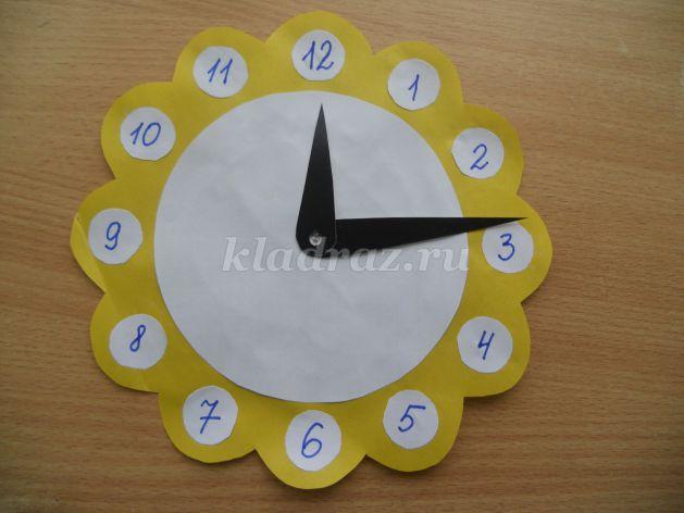 Как сделать часы картон 159