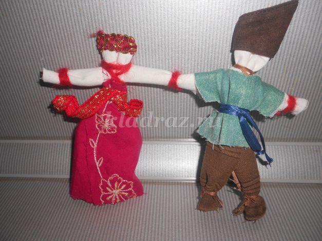 Куклы неразлучники своими руками мастер класс