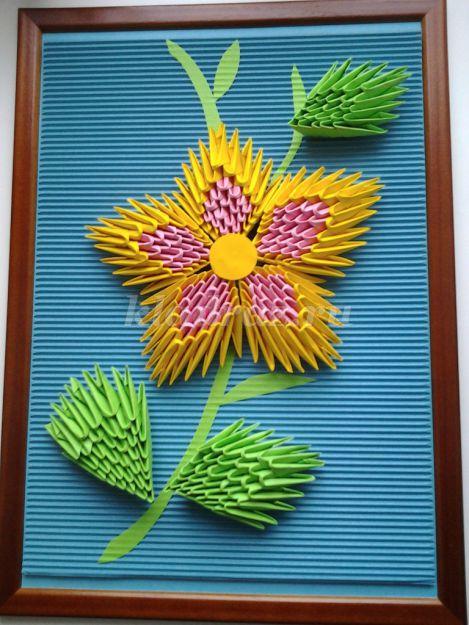 Оригами модульное мастер класс цветы