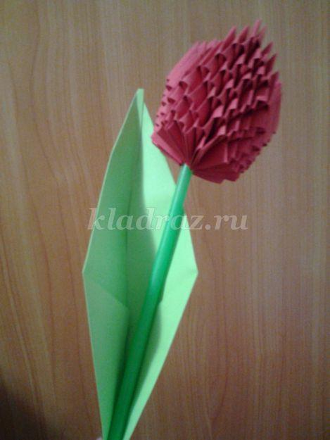 Модульное оригами. Тюльпан.
