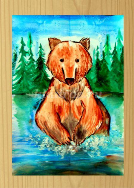 рисунки медведя и других животных
