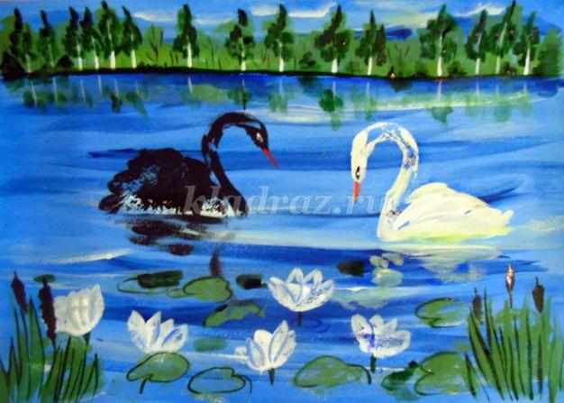 Картинки лебединое озеро