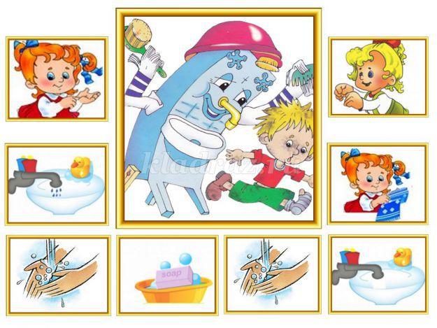 Картинки правила мытья рук в детском саду в картинках