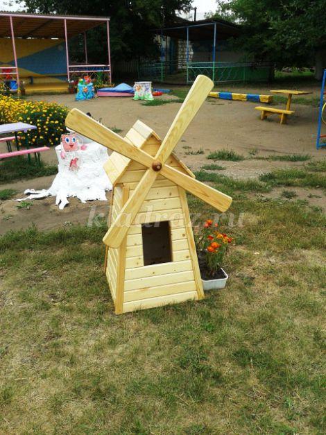 Как сделать мельницу для детского сада своими руками схема