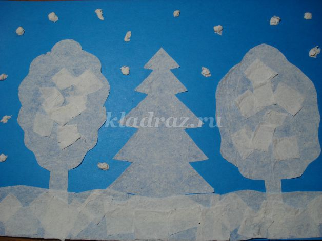 Панно на тему зима своими руками