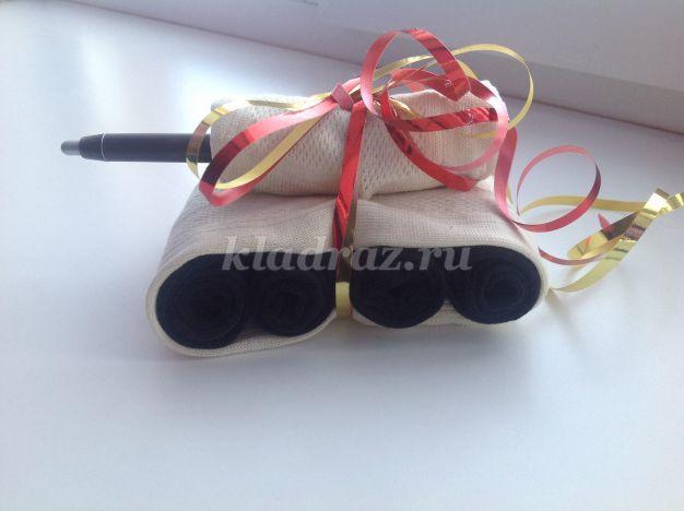 Подарки из носок на 23 февраля