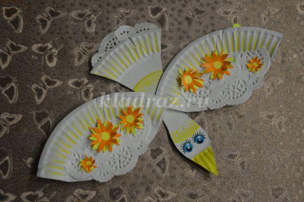 Весенние птички из бумажных тарелок