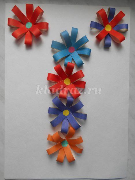 Аппликации цветов из цветной бумаги 3