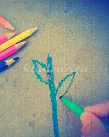 Рисуем цветок оранжевый