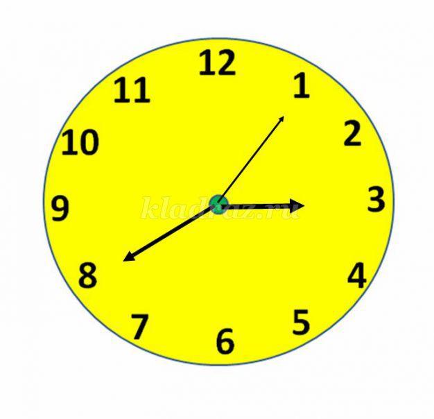 конспект на тему знакомство с часами