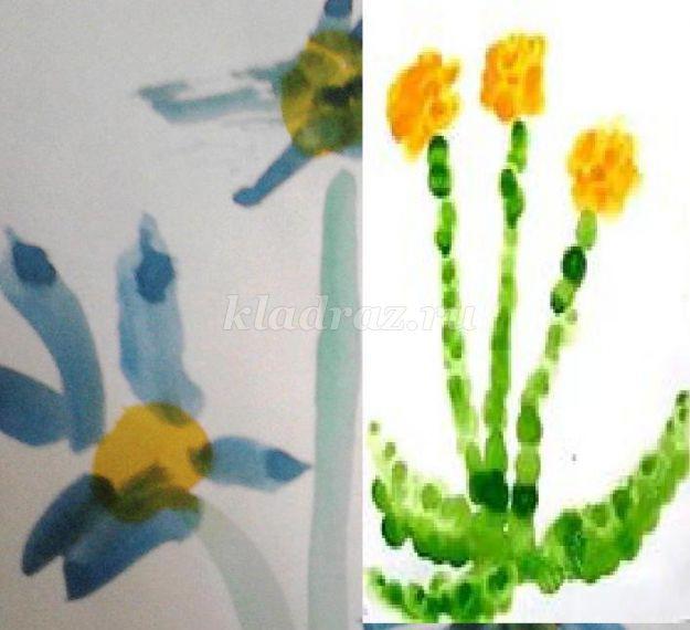 Рисование цветов в средней группе