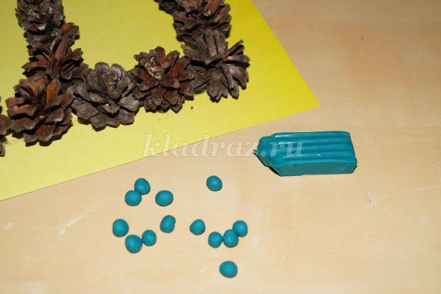 Поделки из шишек для детей 5-6 91