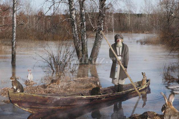 переправь всех на другой берег в лодке с дедом