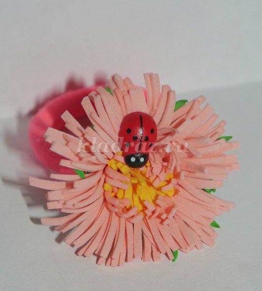 Резинка цветок своими руками фото 85