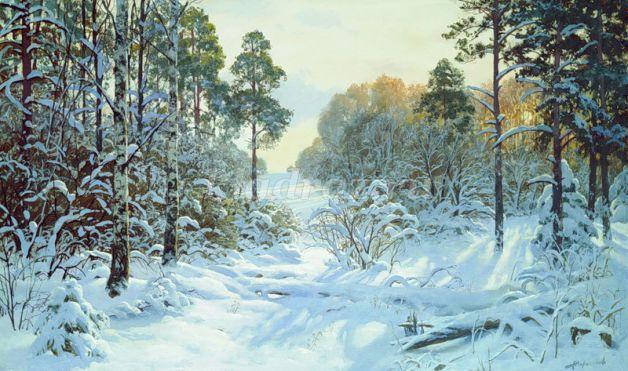 Картинка лес березовый