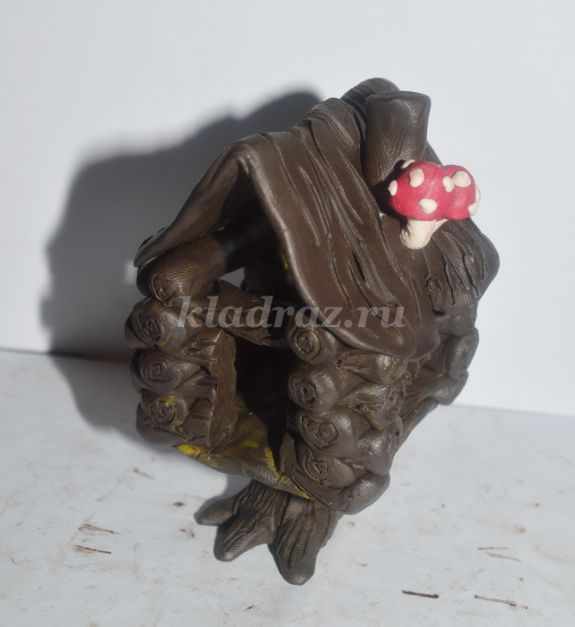 Домик из дерева поделка своими руками