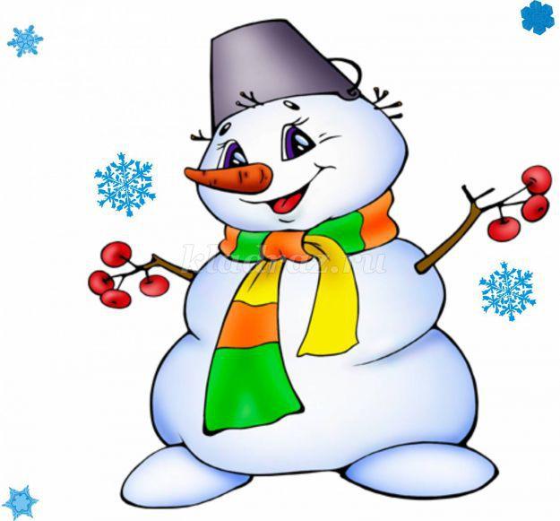 снеговик для детей картинка