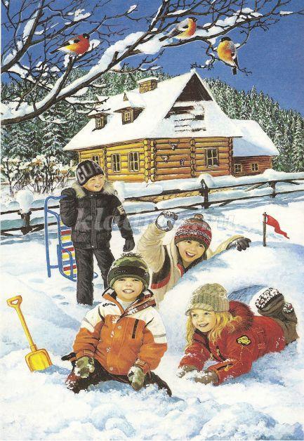 Картинки на тему занятие людей зимой