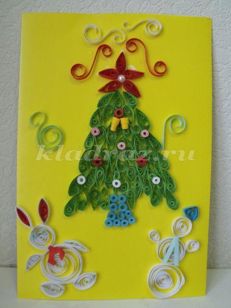 Рождественские открытки своими руками