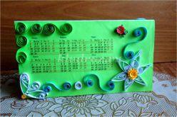 Настольный календарь. «Композиция ромашка» Мастер-класс с пошаговым фото