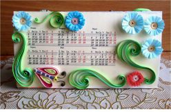 Календарь своими руками «На солнечной полянке»