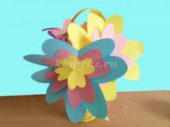 Мастер – класс по изготовлению цветов к празднику 8 марта для детей 4-5 лет