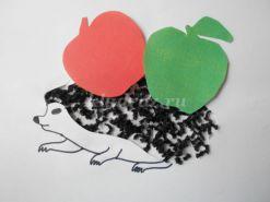 Мастер – класс с пошаговым фото для детей старшего дошкольного возраста «Ежик с яблоками».