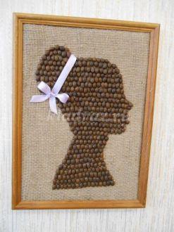 Картина из кофе «Девушка» своими руками в подарок. Мастер-класс