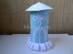 Изготовление новогодней башни из цветной бумаги своими руками