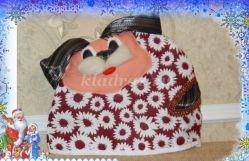 Мастер - класс по шитью из ткани грелки на чайник «СОБАЧКА» с пошаговым фото
