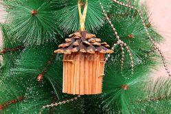 Новогодняя игрушка из природного материала своими руками, домик на ёлку. Мастер – класс с пошаговым фото и видео