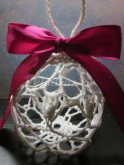 Новогодний шар на елку крючком. Пошаговая инструкция с фото