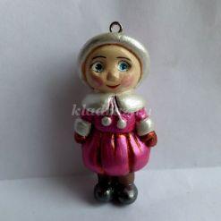 Мастер-класс по рукоделию: «Ёлочная игрушка – девочка в зимнем наряде»