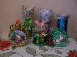 Новогодние сувениры из цветной фольги и мишуры своими руками
