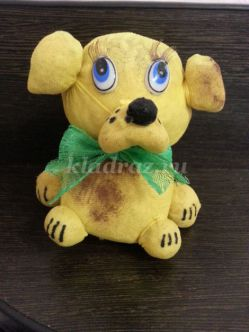 Игрушка травянчик «Собачка» своими руками. Пошаговый мастер-класс с фото
