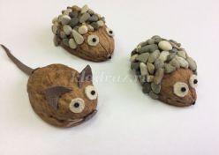 Поделки из скорлупы грецкого ореха своими руками для детей пошагово с фото