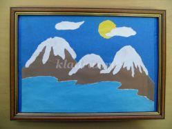 Панно из цветной бумаги «Весна в горах». Мастер-класс с пошаговыми фото