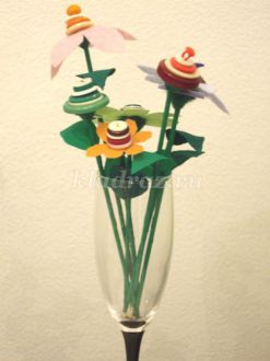 Мастер-класса «Цветы из пуговиц»