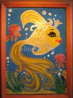 Мастер-класс по рисованию «Золотая рыбка». Смешанная техника рисования