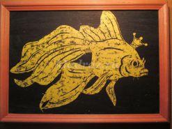 Мастер-класс по рисованию «Золотая рыбка». Техника «граттаж»