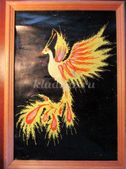 Мастер-класс по рисованию «Жар-птица». Смешанная техника рисования