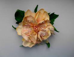 Фантазийный цветок из фоамирана своими руками. Мастер-класс с фото