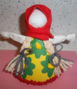 Мастер класс по конструированию куклы из ткани и картона «Весна – Веснянка»