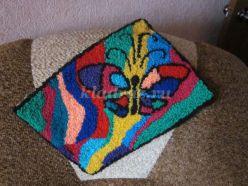 Мастер-класс. Салфетка в технике ковровой вышивки «Пестрые бабочки»