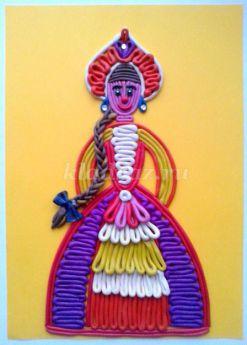 Пластилинография «Барыня». Мастер-класс с пошаговым фото