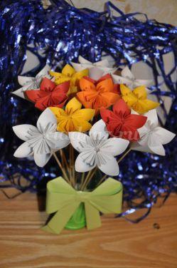 Мастер-класс объёмные цветы в вазе «Цветы к празднику»