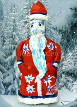 Дед Мороз своими руками. Мастер-класс с пошаговым фото