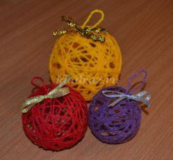 Мастер-класс по изготовлению новогодних шаров из ниток своими руками