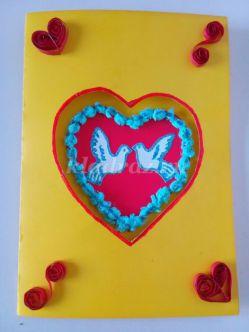 Открытка с днем Святого Валентина для детей 6-8 лет. Мастер-класс с пошаговым фото