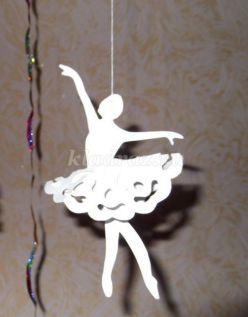 Как сделать снежинку балерину из бумаги своими руками. Мастер-класс с пошаговыми фото
